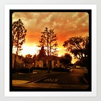Sky at dusk. Art Print