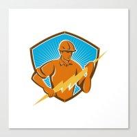 Electrician Construction… Canvas Print