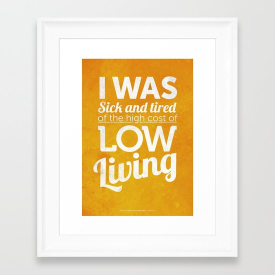 Lowliving Framed Art Print