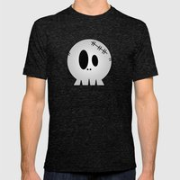 Dead Little Skull Mens Fitted Tee Tri-Black SMALL
