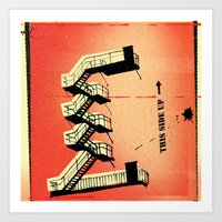 Stairs Up Art Print