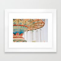 Swing ride Framed Art Print