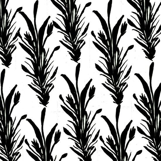 Black Leaves Canvas Print