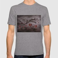 The New Love Tree Mens Fitted Tee Athletic Grey SMALL