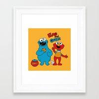 Elmo & Cookie Fan Art Framed Art Print