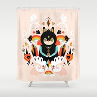 Rainbow Queen Shower Curtain