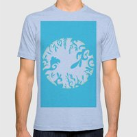 Abstractly Blue  Mens Fitted Tee Athletic Blue SMALL