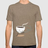 Seb, The Cup Of Coffee Mens Fitted Tee Tri-Coffee SMALL
