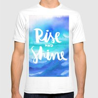 Rise And Shine - Collaboration by Jacqueline Maldonado and Galaxy Eyes Mens Fitted Tee White SMALL