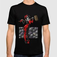 Harley Quinn Mens Fitted Tee Black SMALL