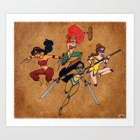 Teenage Disney Ninja Pri… Art Print