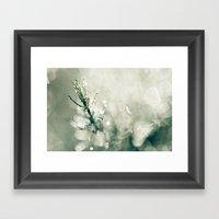 Green Sparkle Framed Art Print