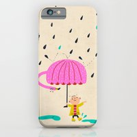 iPhone & iPod Case featuring one of the many uses of a flamingo - umbrella by Joanne Liu