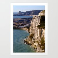 The White Cliffs and Dover  Art Print