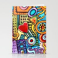Pretty City Stationery Cards