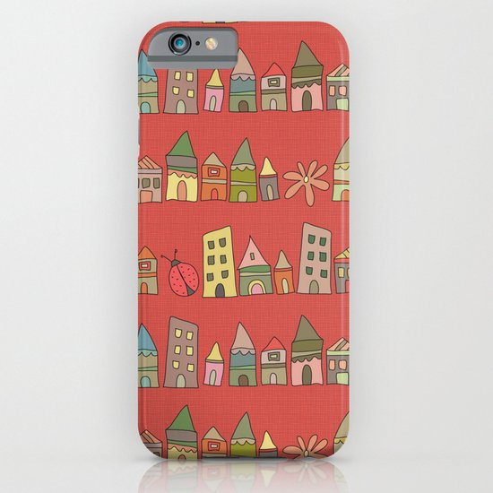 City {Housylands - red} iPhone & iPod Case