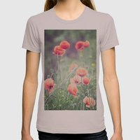 Flow(ers) Womens Fitted Tee Cinder SMALL