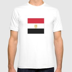 Flag of Egypt SMALL White Mens Fitted Tee