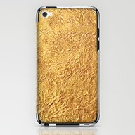iPhone & iPod Skin featuring Gold by Patterns And Texture…
