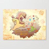 Cecil the Lion's Social Networks Revenge Canvas Print