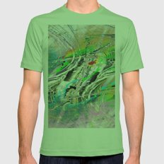 waves II colorid Mens Fitted Tee Grass SMALL