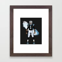 Keep Pounding - Cam Newton Framed Art Print