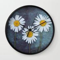 Marguerites Wall Clock