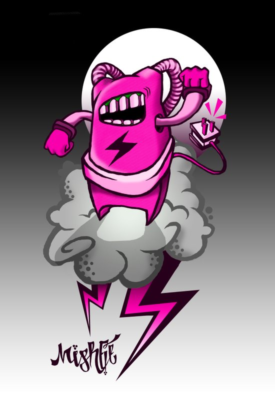 Strombot - Pink Robot Art Print