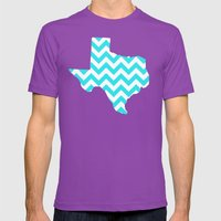 TEXAS Mens Fitted Tee Ultraviolet SMALL
