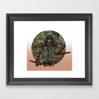 The Tiger and Concrete Jungle Framed Art Print