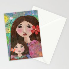 Mom and Daughter  Stationery Cards