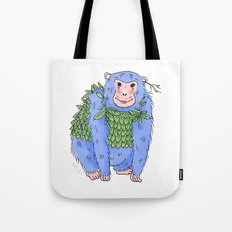 Peachtree The Chimp in Blue Tote Bag
