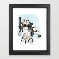 Sandtrooper Framed Art Print