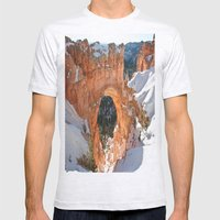 Natural Bridge - Bryce Canyon Mens Fitted Tee Ash Grey SMALL