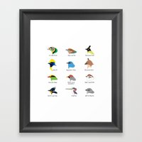 Montane Birds Series 1 Framed Art Print