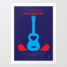 No379 My Blue Valentine minimal movie poster Art Print