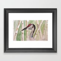 Head of Heron Framed Art Print