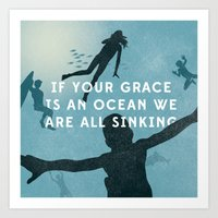 If Your Grace Is A Ocean Art Print