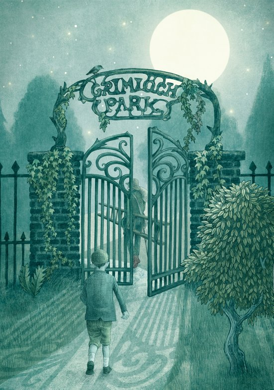 The Night Gardener - Grimloch Park Art Print