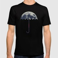 Space Umbrella Mens Fitted Tee Black SMALL