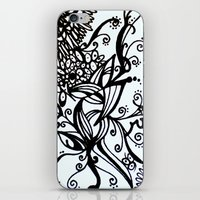 Forget Me Not Black & White  iPhone & iPod Skin