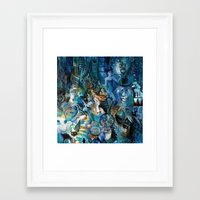 Circus Blue Framed Art Print