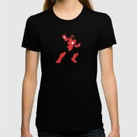 Man-Made Machines Womens Fitted Tee Black SMALL
