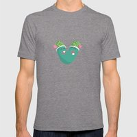 Letter V Mens Fitted Tee Tri-Grey SMALL