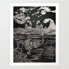Jupiter's Guide For Submariners Art Print