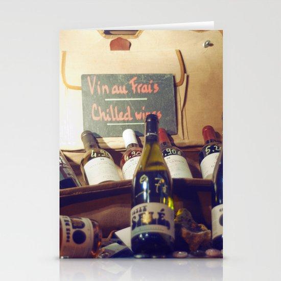 Vin au Frais: Chilled Wine Stationery Card