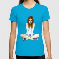 Mood today Womens Fitted Tee Teal SMALL
