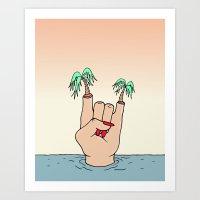 ROCK THE BEACH Art Print