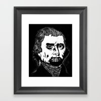 03. Zombie Thomas Jeffer… Framed Art Print