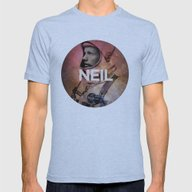 Neil. Mens Fitted Tee Athletic Blue SMALL